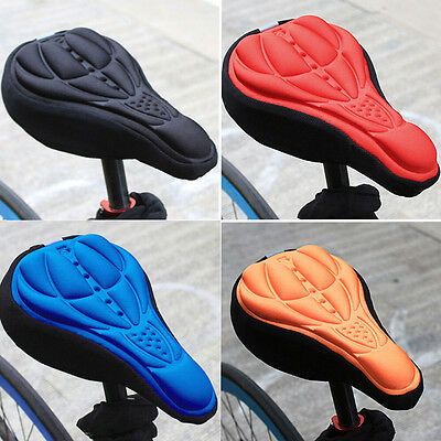 1x Cycling Bicycle Mountain Bike 3D  Gel Pad Seat Saddle Cover Soft Cushion
