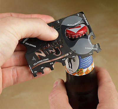 Wallet Ninja 18 in 1 Multitool Bottle Opener Card Wrench Screwdriver stocking UK