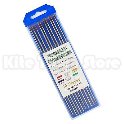 "10-Pack TIG Welding Tungsten Electrodes 2% Thoriated 3/32"" x 7"" 2.4 x 175 WT20"