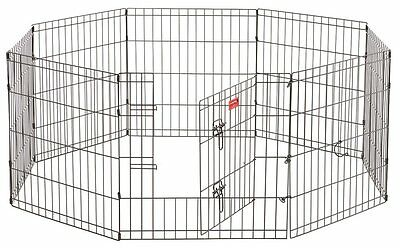 Lucky Dog ZW 11624 Exercise Pen with Stakes, 24-Inch, Black [Outdoor Pens] CXX