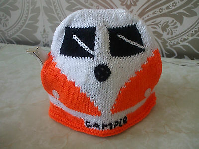 New Hand Knitted Campervan Large Tea Cosy Vw Etc Various Colours