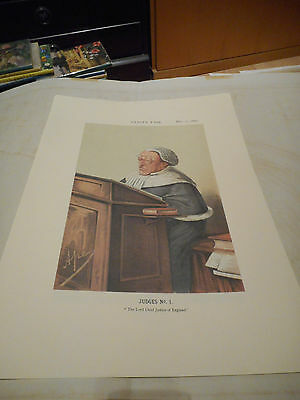 Vanity Fair Print Legal Judge No1 Lord Cheif Justice Of England