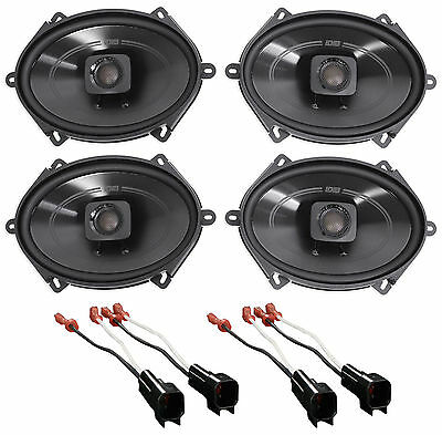 """2005-2006 Ford Mustang Polk 5x7"""" Front+Rear Factory Speaker Replacement Kit"""