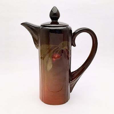 1901 Rookwood Chocolate Pot by Clara Christina Lindeman 528B w/ Cherry Motif