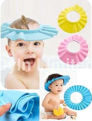 Soft Kids Toddler Baby Bath Hat Shower Shampoo Visor Hats Wash Hair Shield Cap