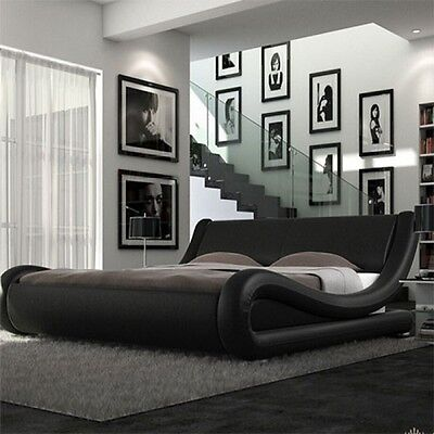 FURNITUREireland. ENZO MODERN ITALIAN FAUX LEATHER DOUBLE OR KING SIZE BED