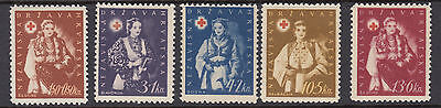CROATIA : 1942 Red Cross Fund set SG 67-71 MNH