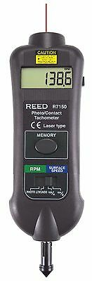 REED R7150 Pro Combination Contact / Non-Contact Laser Photo Tachometer.