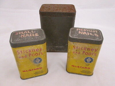 Stickney and Poor's Mustard Tins Walter Baker & Co Breakfast Cocoa Tin