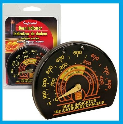 IMPERIAL STOVEPIPE THERMOMETER Woodstove Pellet Stove Burn Indicator NEW #BM0135