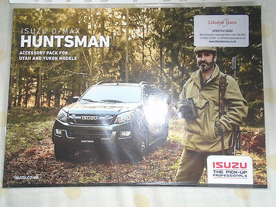 Isuzu D-Max Huntsman Accessory pack for Utah & Yukon models brochure c2000's