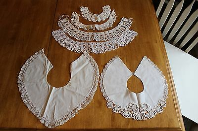 6 Vintage Ladies Collars - Crocheted
