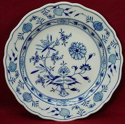 MEISSEN Germany china BLUE ONION X Backstamp Luncheon Plate  8-1/2""