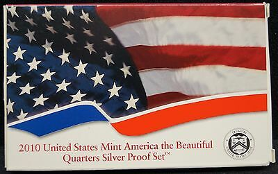 2010 United States Mint America the Beautiful Quarters Silver Proof Set