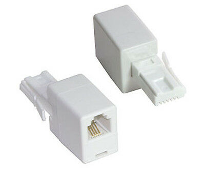 RJ11 Female to BT Male Converter Adaptor US to UK Adaptor