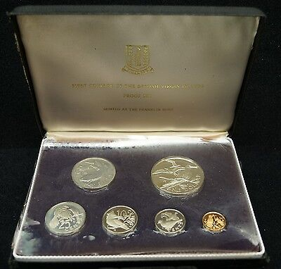 1973 First Official Coinage Of The British Virgin Islands 6-Coin Proof Set