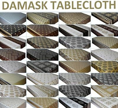Wipeable Wipe Clean Tablecloth Pvc Vinyl Oilcloth Table Cover Protector Damask