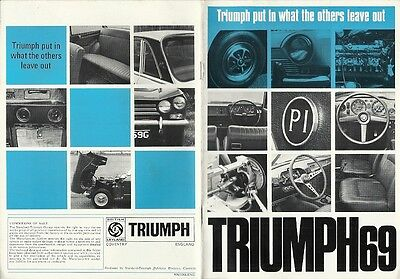 Triumph Put In What The Others Leave Out, Triumph 69 Brochure.