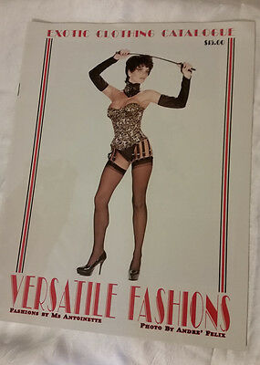 Versatile Fashions Catalog 1994 Exotic Clothing PVC Latex Corsets Shoes Boots