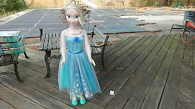 "38"" My  Size Elsa Frozen Doll Good  Clean Condition"