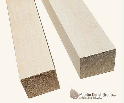 "Balsa Wood Block 50mm x 50mm x (36"") 915mm Long"