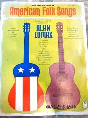 The Penguin Book Of American Folk Songs Sheet Music - Alan Lomax**piano & Guitar
