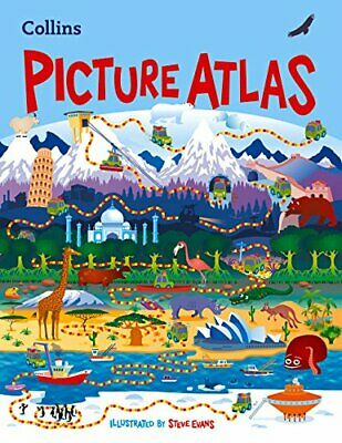 Collins Children's Picture Atlas by Collins Maps Book The Cheap Fast Free Post
