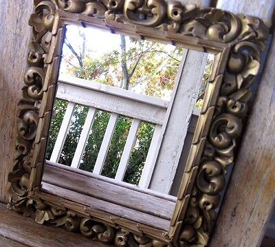 Antique Carved Wood Frame Mirror Purnell Galleries Baltimore Vintage French Chic