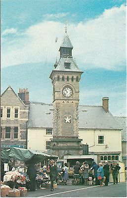 The Clock Tower On Market Day, KNIGHTON, Radnorshire