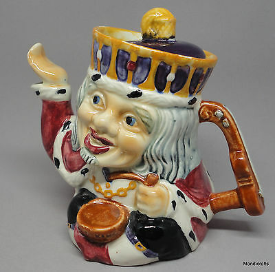 Teapot Shorter & Sons Staffordshire Two-Faced Toby 1940s Old King Cole Character