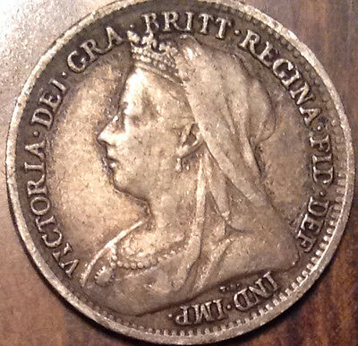 1898 Gb Uk Silver Threepence In Good Condition !