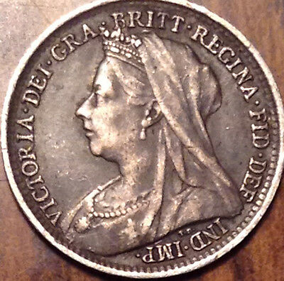 1898 Gb Uk Silver Threepence In Very High Grade !!