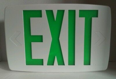 Lithonia Lighting Green LED Emergency Exit Sign New