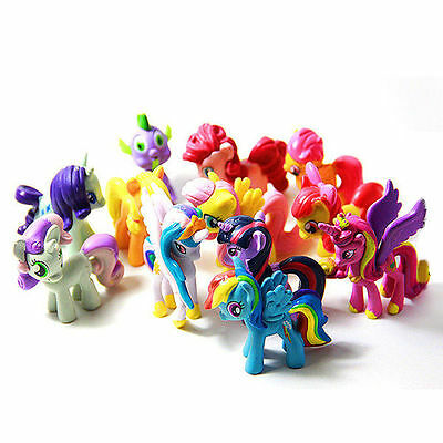 12 Pcs My Little Pony Cake Toppers PVC Action Figures Kids Girl Toy Dolls Gifts