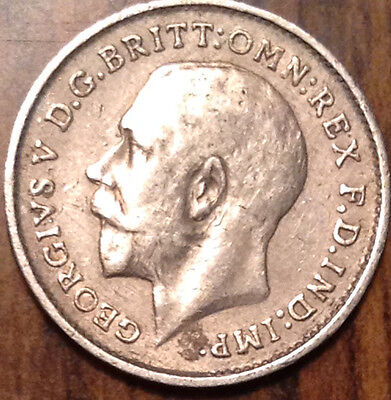 1911 Gb Uk Silver Threepence In Great Condition