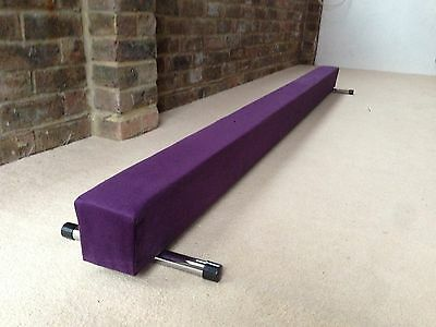 finest quality gymnastics gym balance beam purple 7FT long brand new reduced