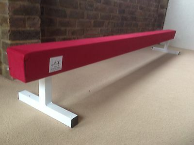 "finest quality RED gymnastics gym balance beam 6FT long 12"" high RED BRAND NEW"