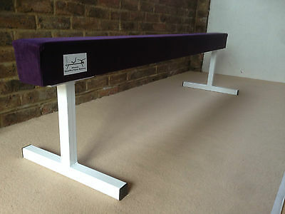 "finest quality gymnastics gym balance beam PURPLE COLOUR 6FT long 18"" high"