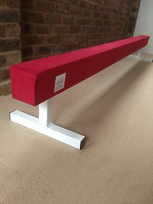 "finest quality RED gymnastics gym balance beam 8FT long 12"" high RED BRAND NEW"