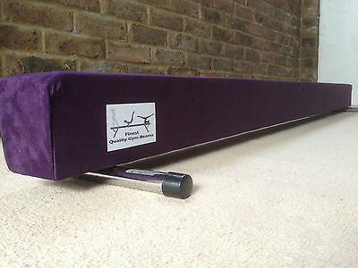finest quality gymnastics gym balance beam purple 6FT long reduced look bargain