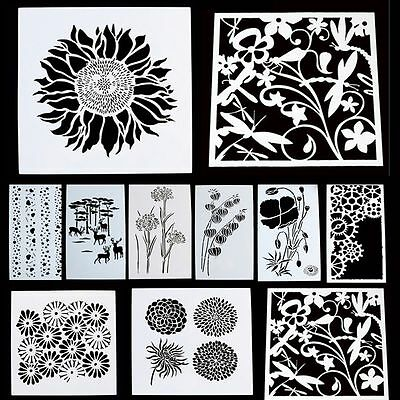 Baking Tool Kitchen Cake Decor Fondant Layering Stencil Template Duster Spray
