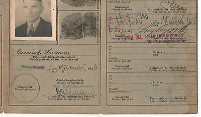 Germany Poland Generalgouvernement Occupation Territories Kennkarte Id Card Wwii