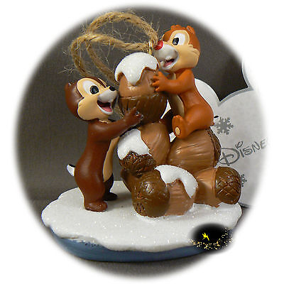 Disneyland Paris Exclusive - Chip and Dale -  Christmas Ornament + Map