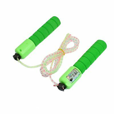 Exercise Nonslip Grip Counter Jumping Rope Green 2.5M T8