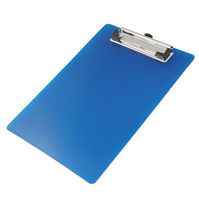 SS (Office A5 Paper Holding File Clamp Clip Board Blue T8