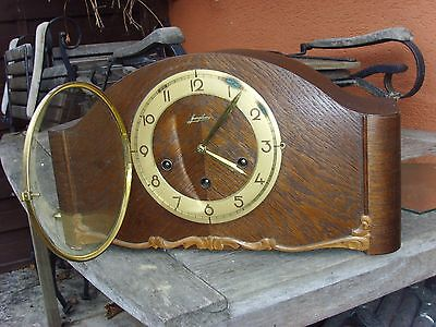 1948 JUNGHANS WESTMINSTER mantel mantle clock shelf wall kienzle era function