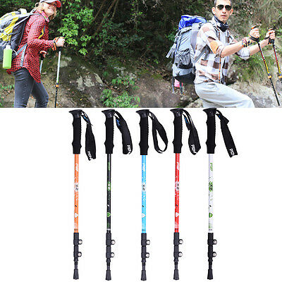 3-Section Carbon Alpenstock Telescopic Nordic Walking Trekking Pole Hiking Stick