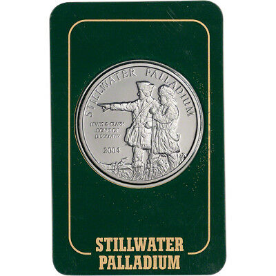 1 oz. Palladium Round - Johnson Matthey Stillwater .999.5 Fine in Vintage Assay
