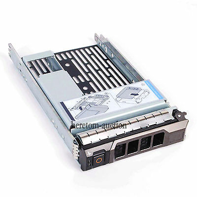 """4x 3.5"""" Tray Caddy w/2.5"""" Adapter Bracket For Dell Poweredge R410 T410 R420 T420"""