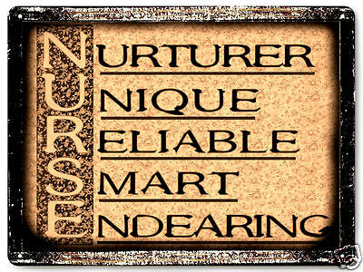 NURSE metal VINTAGE style SIGN  great gift wall decor art 468
